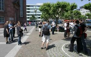 "Flashmob ""Grundgesetz lesen"""