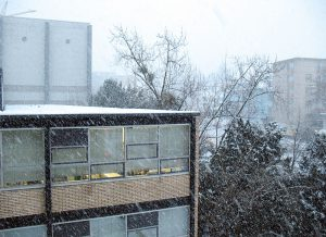Schneefall in Darmstadt