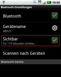 Defy-Screenshot Bluetooth