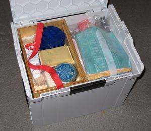 Fertig eingeräumte Autopflege-L-Boxx (mit Kleinkram-Kästchen)