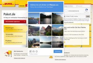 Paket.de-Screenshot mit Google reCAPTCHA