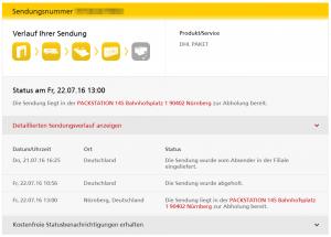 Merkwürdiges Online-Tracking bei DHL