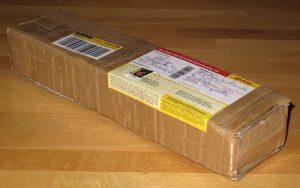 Kreative Verpackung mit Pappkarton-Resten