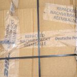 Nachverpackt-Klebeband von DHL